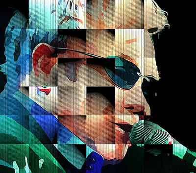Elton John Wall Art - Digital Art - Elton John In Cubes 1 by Yury Malkov