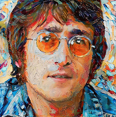 Digital Art - John Lennon Portrait Impasto by Yury Malkov