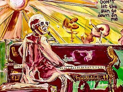 Elton John Painting - Elton by Paula Baker