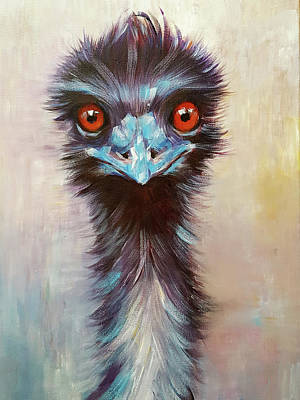 Painting - Elton The Emu by Arti Chauhan