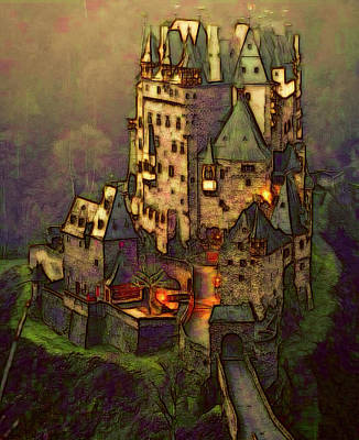 Digital Art - Eltz Castle by Michael Cleere