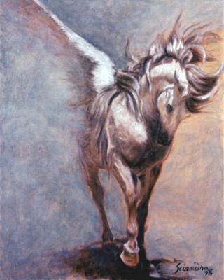 Painting - Elusive Equus by Sciandra