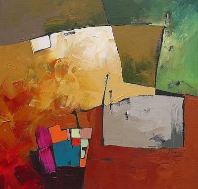 Earth Tones Painting - Elusive  by Linda Monfort