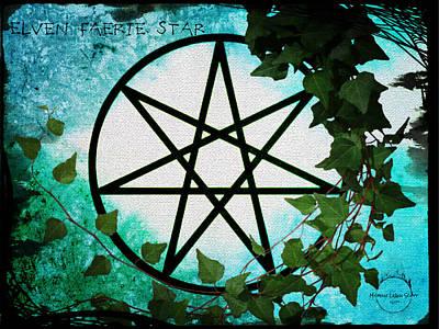 Digital Art - Elven Faerie Star by Absinthe Art By Michelle LeAnn Scott