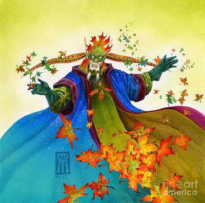 Elven Mage Art Print by Melissa A Benson