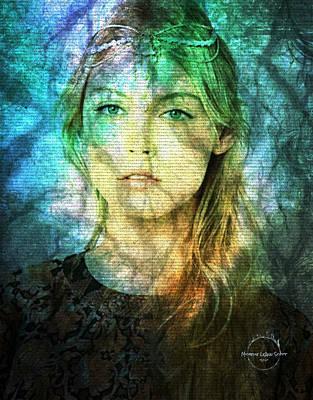 Digital Art - Elven Princess Of The Forest by Absinthe Art By Michelle LeAnn Scott
