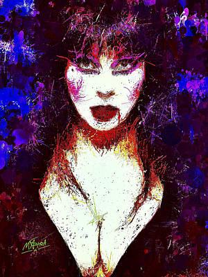 Mixed Media - Elvira Mistress Of The Dark by Al Matra