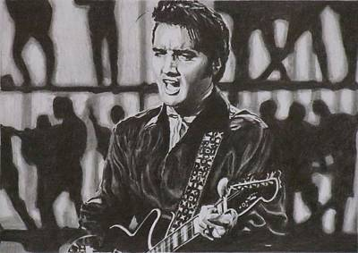 Elvis - 68 Comeback Art Print by Mike OConnell