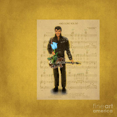 Photograph - Elvis . And I Love You So by Renee Trenholm