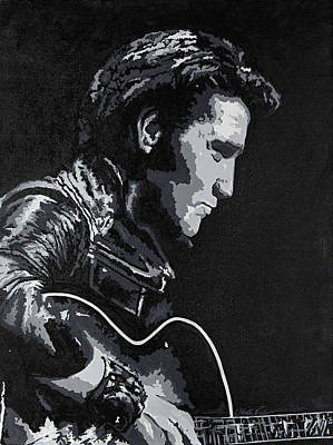 Painting - Elvis 1968 Comeback Show by Jeleata Nicole