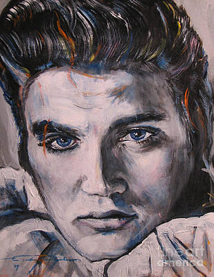 Elvis 2 Art Print by Eric Dee