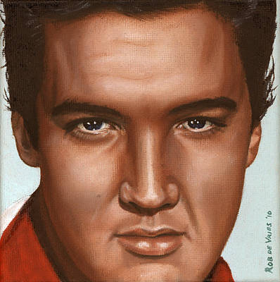Elvis 24 1958 Art Print by Rob De Vries