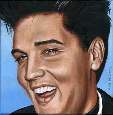 Elvis 24 1960 Art Print by Rob De Vries