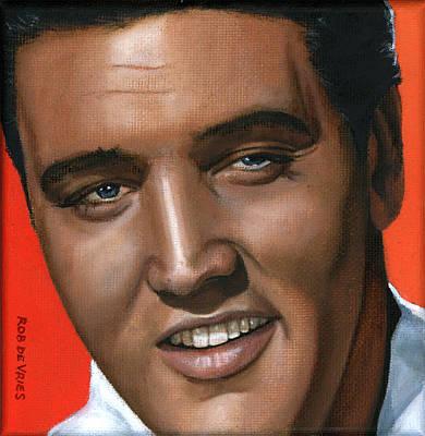 Elvis 24 1961 Art Print by Rob De Vries