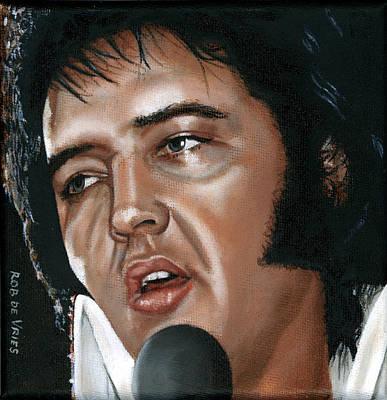 Elvis 24 1975 Art Print by Rob De Vries