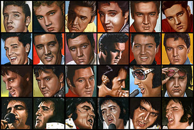 Seventies Painting - Elvis 24 by Rob de Vries