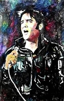 Las Vegas Artist Painting - Elvis 68 by Marcelo Neira