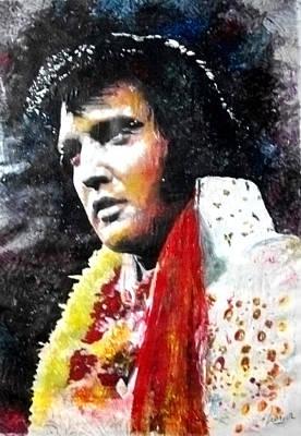 Las Vegas Artist Painting - Elvis 70 by Marcelo Neira