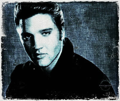 Digital Art - Elvis by Absinthe Art By Michelle LeAnn Scott