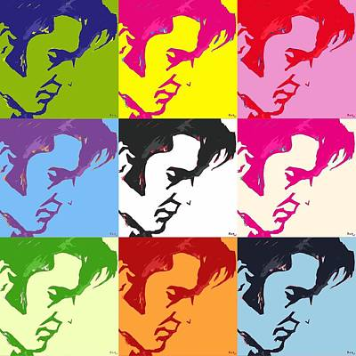 Music Figurative Potraits - Elvis and Friends by Robert Margetts
