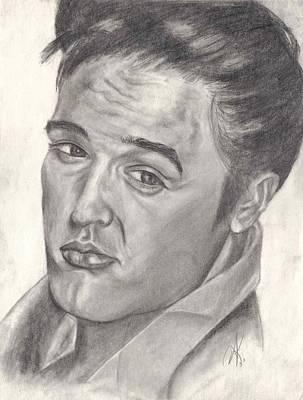 Annette Kinship Wall Art - Drawing - Elvis' by Annette Kinship