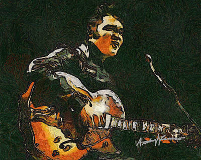 Elvis Art Print by Anthony Caruso