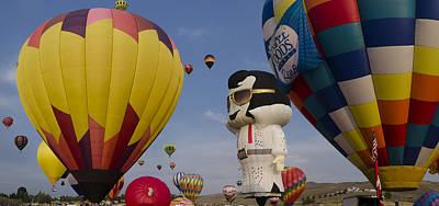 Elvis At Reno Balloon Race Art Print by Rick Mosher