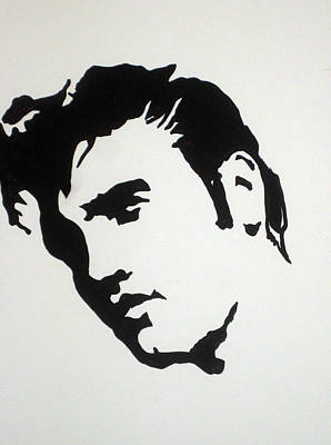 Stencil Of Elvis Drawing - Elvis Before Time by Robert Margetts