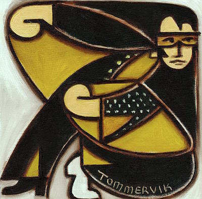 Painting - Elvis Black Jump Suit Art Print by Tommervik
