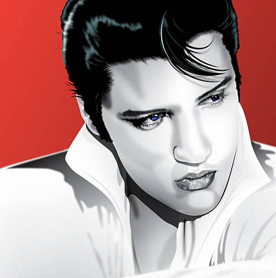 Elvis Presley Mixed Media - Elvis by Brian Gibbs