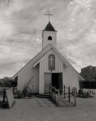 Apache Creek Photograph - Elvis Chapel, Monochrome by Gordon Beck