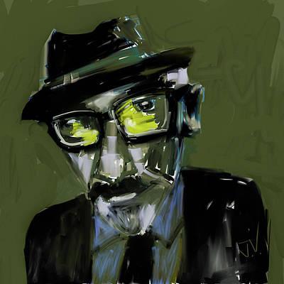 Digital Art - Elvis Costello by Jim Vance