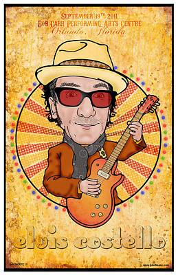 Elvis Costello Art Print by John Goldacker