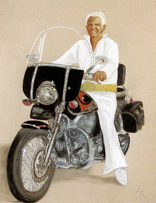Pastel - Elvis Giles Rides Again by Jan Amiss