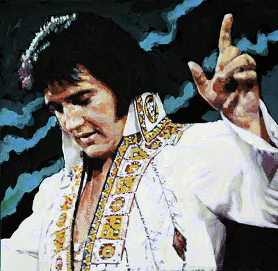 Painting - Elvis - How Great Thou Art by John Lautermilch