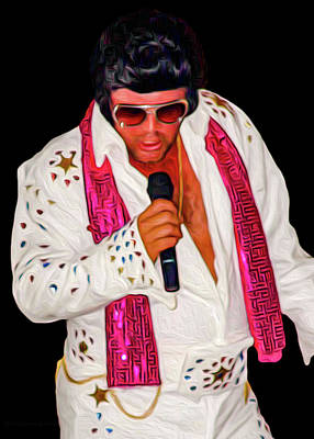 Photograph - Elvis Impersonator by Erich Grant