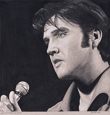 Drawing - Elvis In Charcoal #176, No Title by Rob De Vries