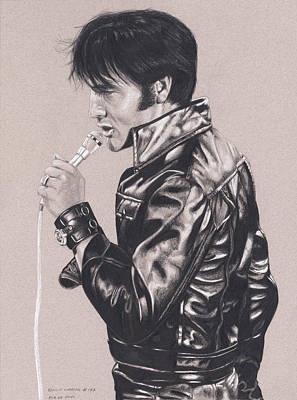 Drawing - Elvis In Charcoal #177, No Title by Rob De Vries