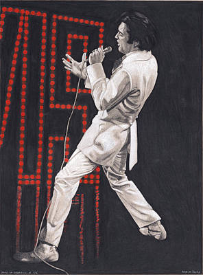 Drawing - Elvis In Charcoal #178, No Title by Rob De Vries