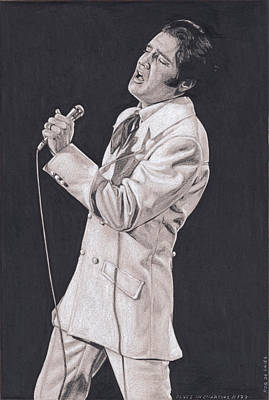 Drawing - Elvis In Charcoal #179, No Title by Rob De Vries