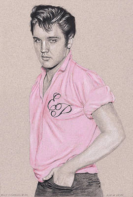 Drawing - Elvis In Charcoal #180, No Title by Rob De Vries