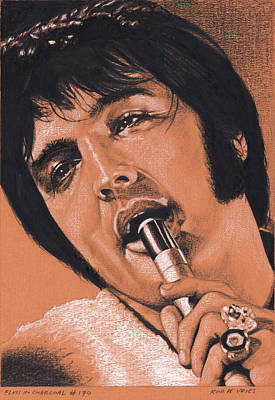 Drawing - Elvis In Charcoal No.170, No Title by Rob De Vries