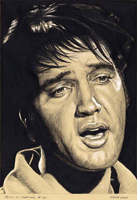 Drawing - Elvis In Charcoal No.171, No Title by Rob De Vries
