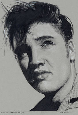 Drawing - Elvis In Charcoal No.172, No Title by Rob De Vries