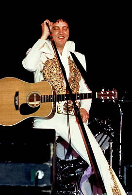 Photograph - Elvis In Concert by Anthony Dezenzio