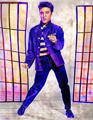 Painting - Elvis Jailhouse Rockin by David Mckinney