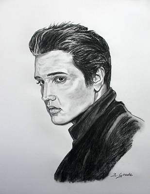 Person Drawing - Elvis by Jana Goode