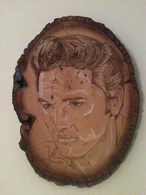 John Pitre Pyrography - Elvis by John Pitre