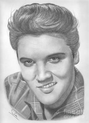 Drawing - Elvis by Karen Townsend