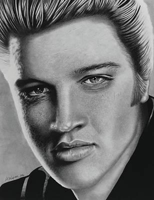 Elvis Presley Drawing Drawing - Elvis by Marlene Kupau